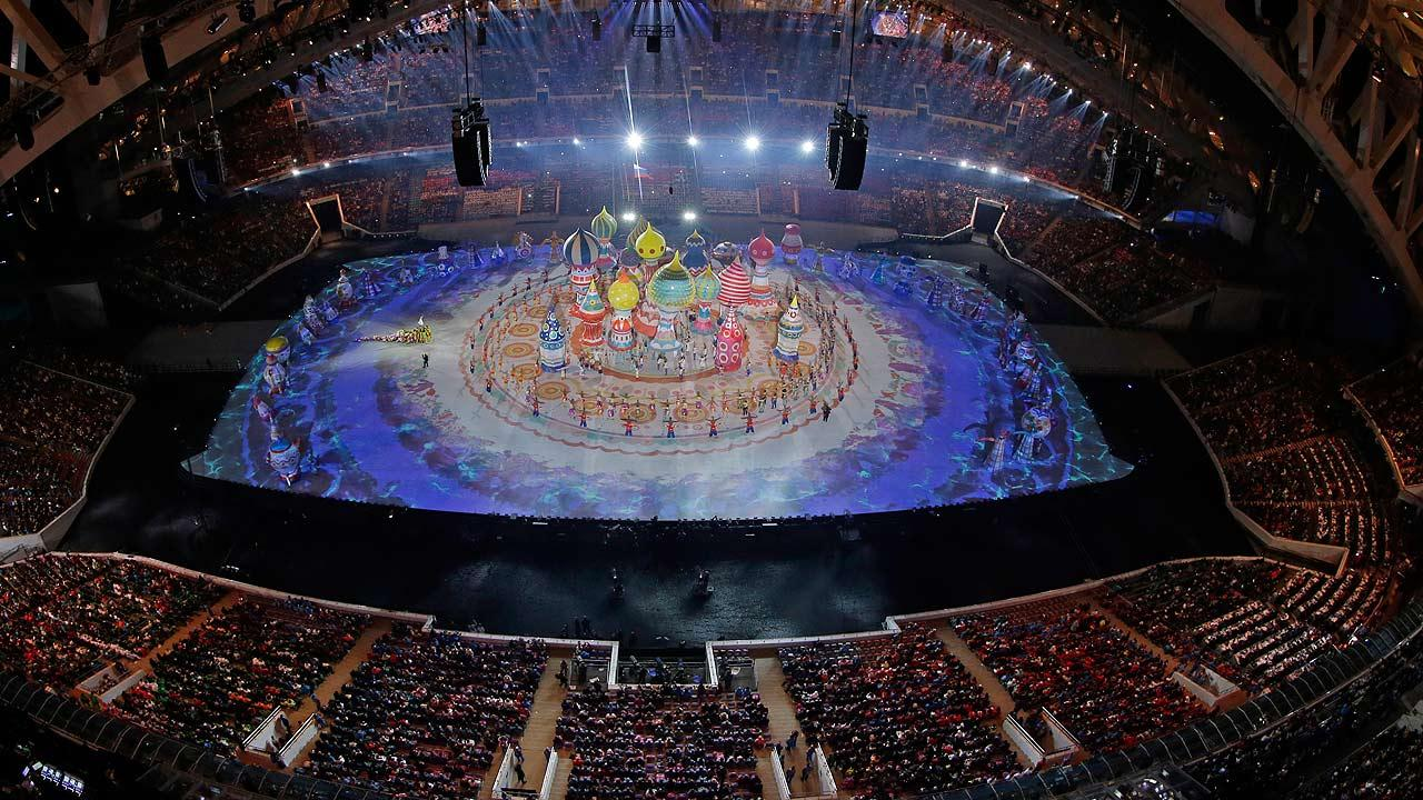 Characters perform during the opening ceremony of the 2014 Winter Olympics in Sochi, Russia