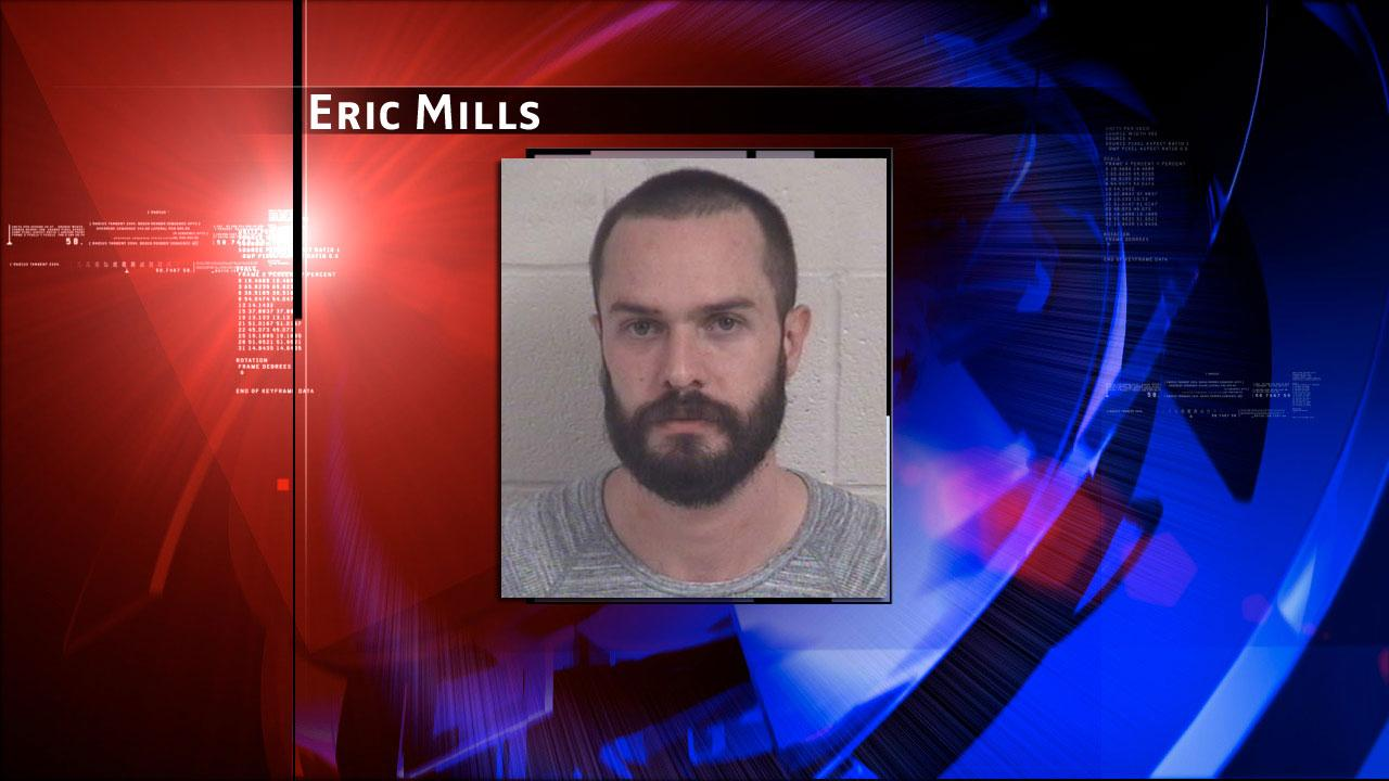 Eric Mills was arrested and charged with manufacture or delivery of a controlled substance