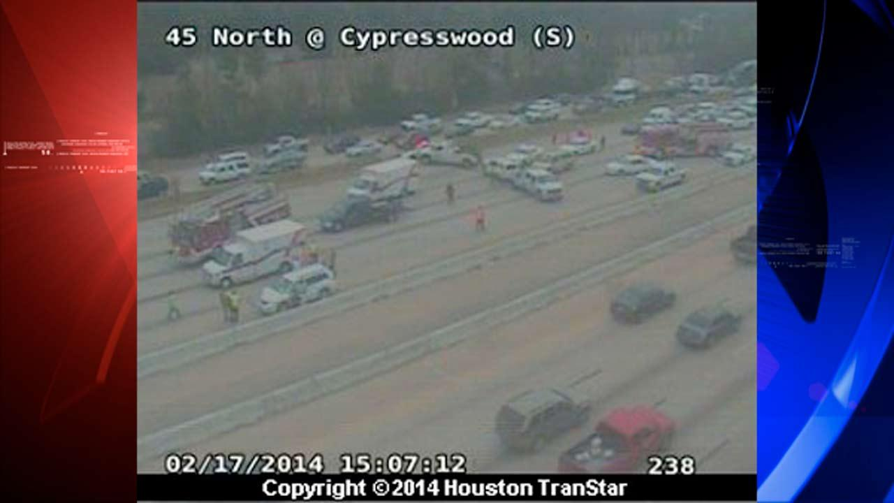NB lanes of I-45 at Cypresswood reopen following multi-vehicle accident