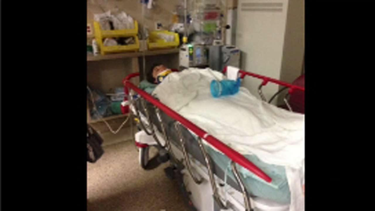 Max Menchaca suffered major brain injuries after apparently falling through a hole in a trampoline at Cosmic Jump.