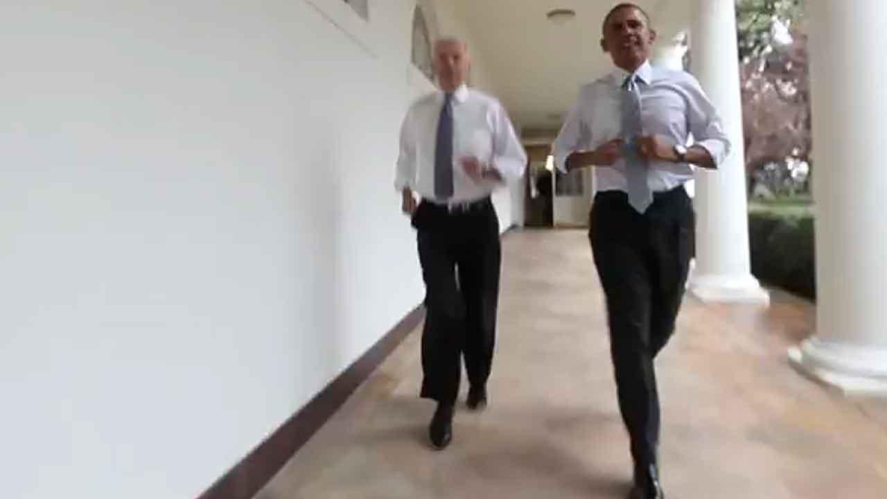President Obama and Vice Preident Biden show off their moves in new workout video