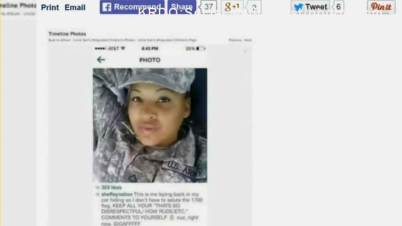 US soldier accused of avoiding flag salute, posting selfie online instead