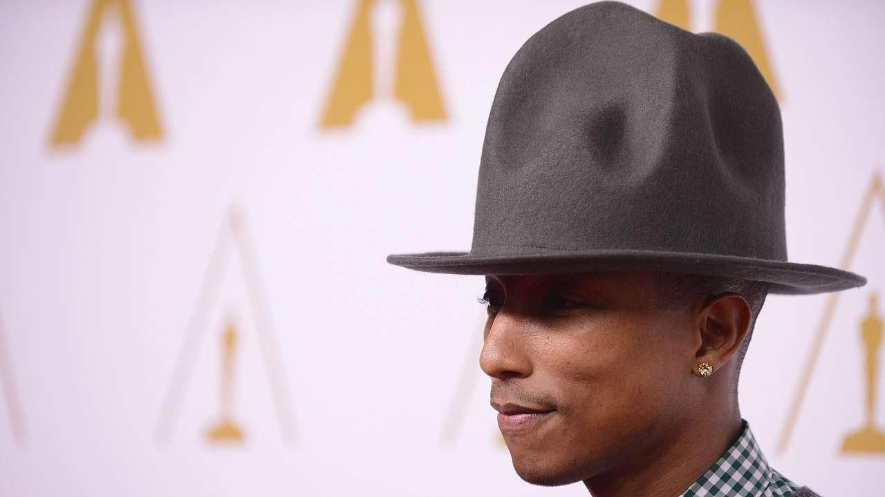 Pharrell Williams wearing his hat