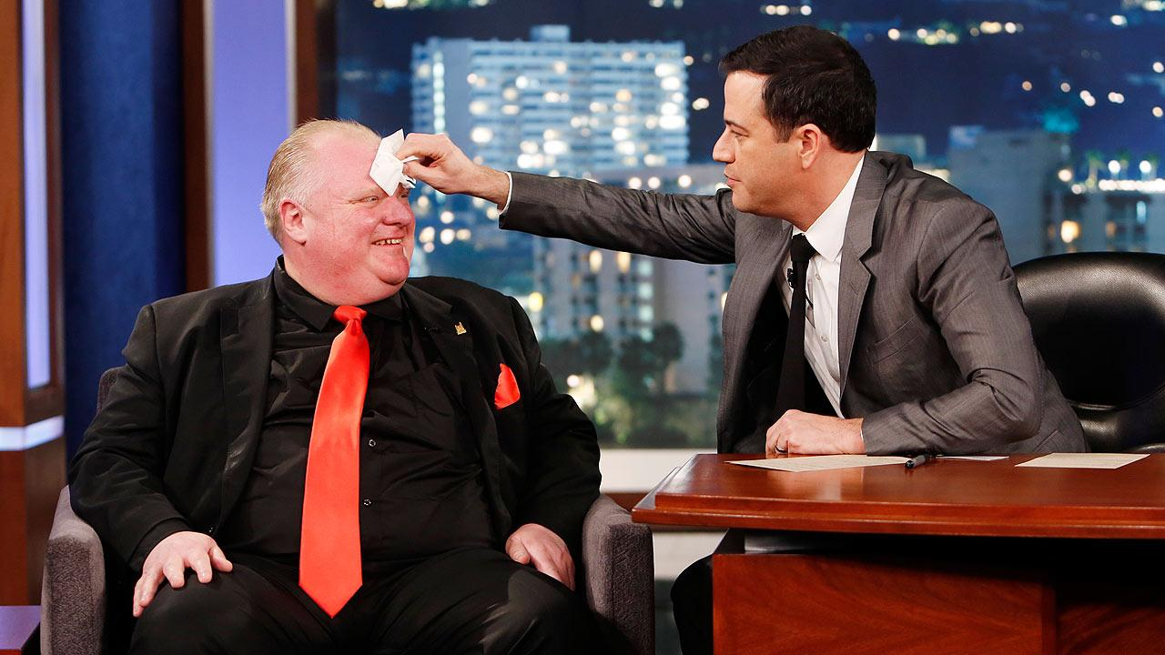 Rob Ford and Jimmy Kimmel