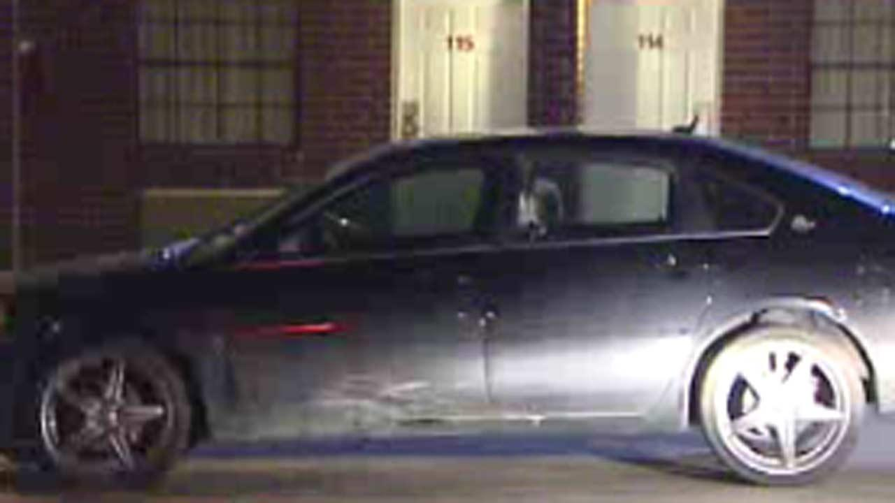 Police say the man appeared to be driving under the influence and was taken into custody.