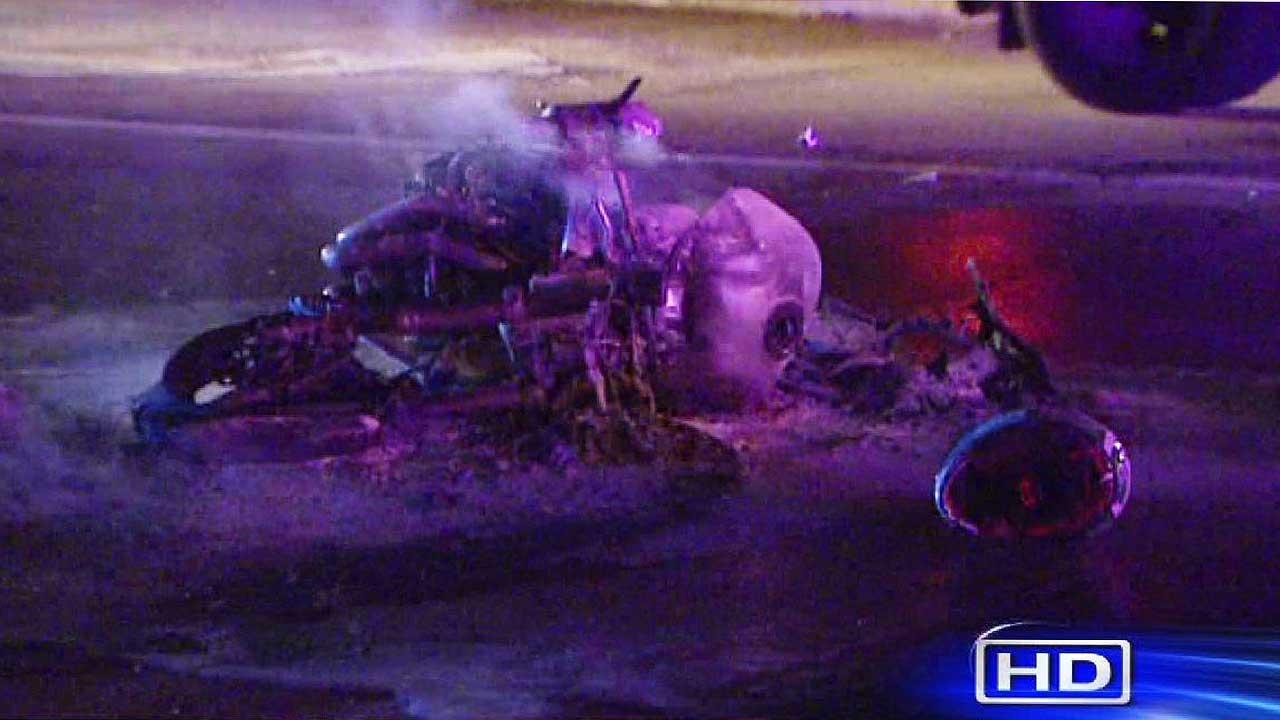 Motorcycle wreck southwest Houston
