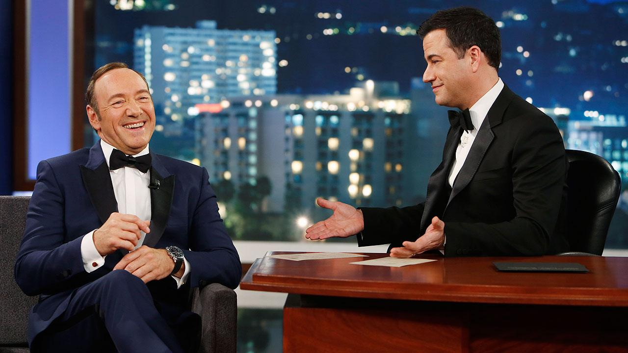Kevin Spacey and Jimmy Kimmel