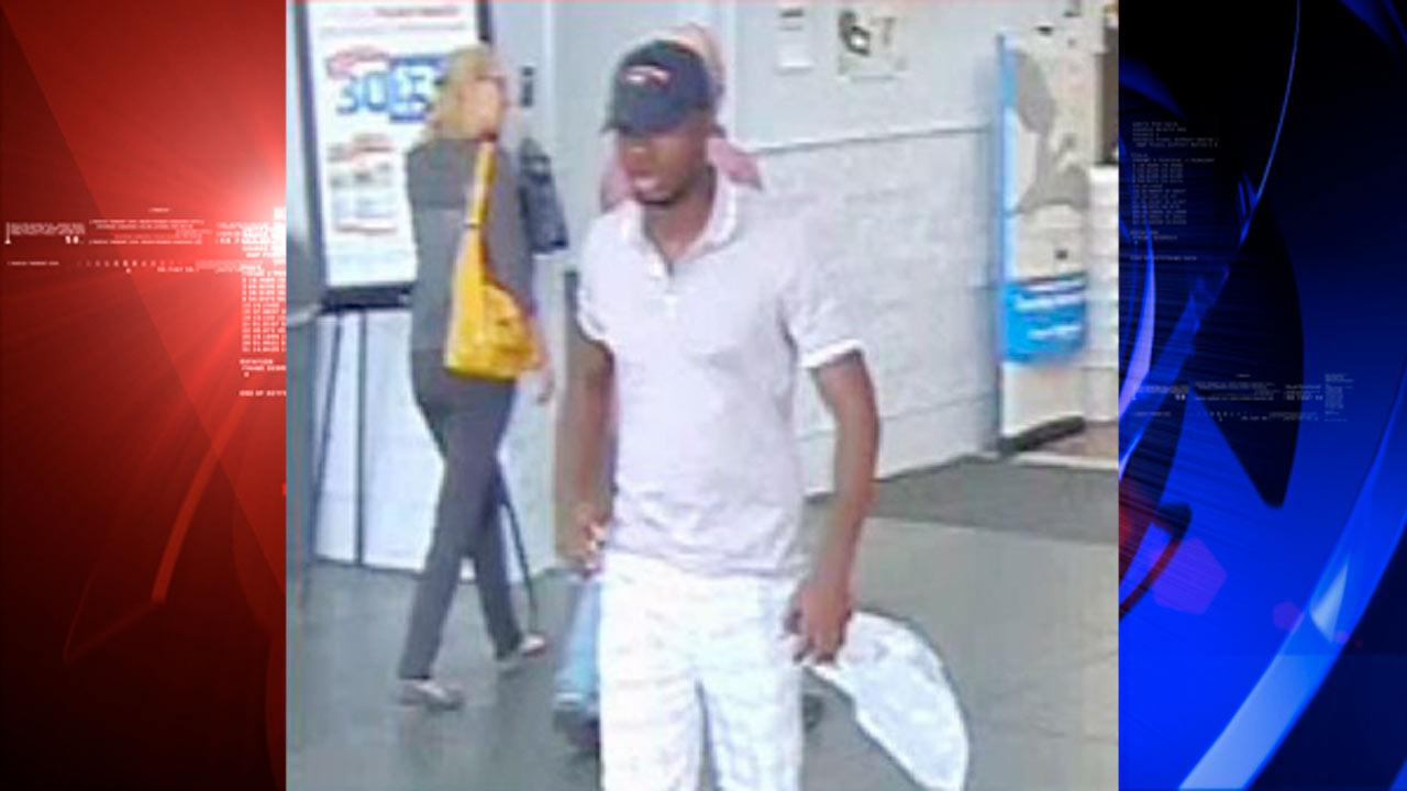Authorites are looking for a man they say was able to clone credit cards and purchase items at two Walmart stores.