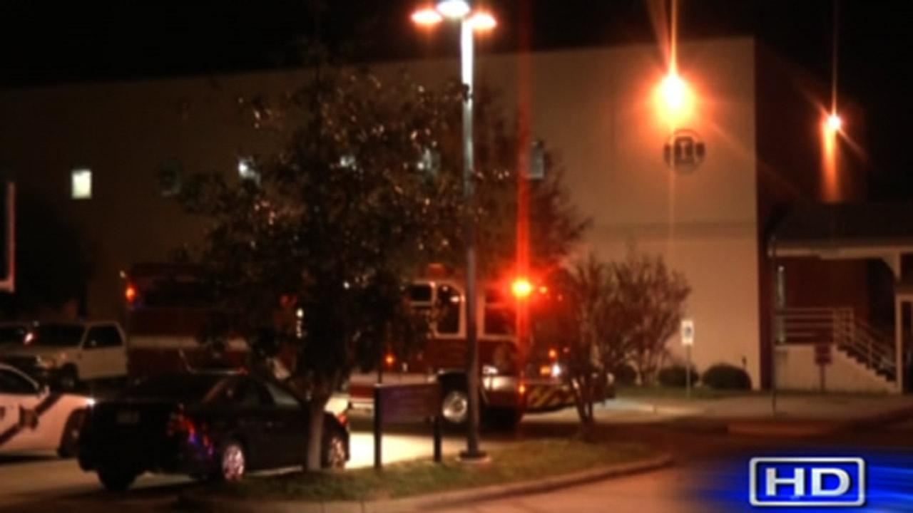 Authorities say at least one person was treated at the scene for smoke inhalation.