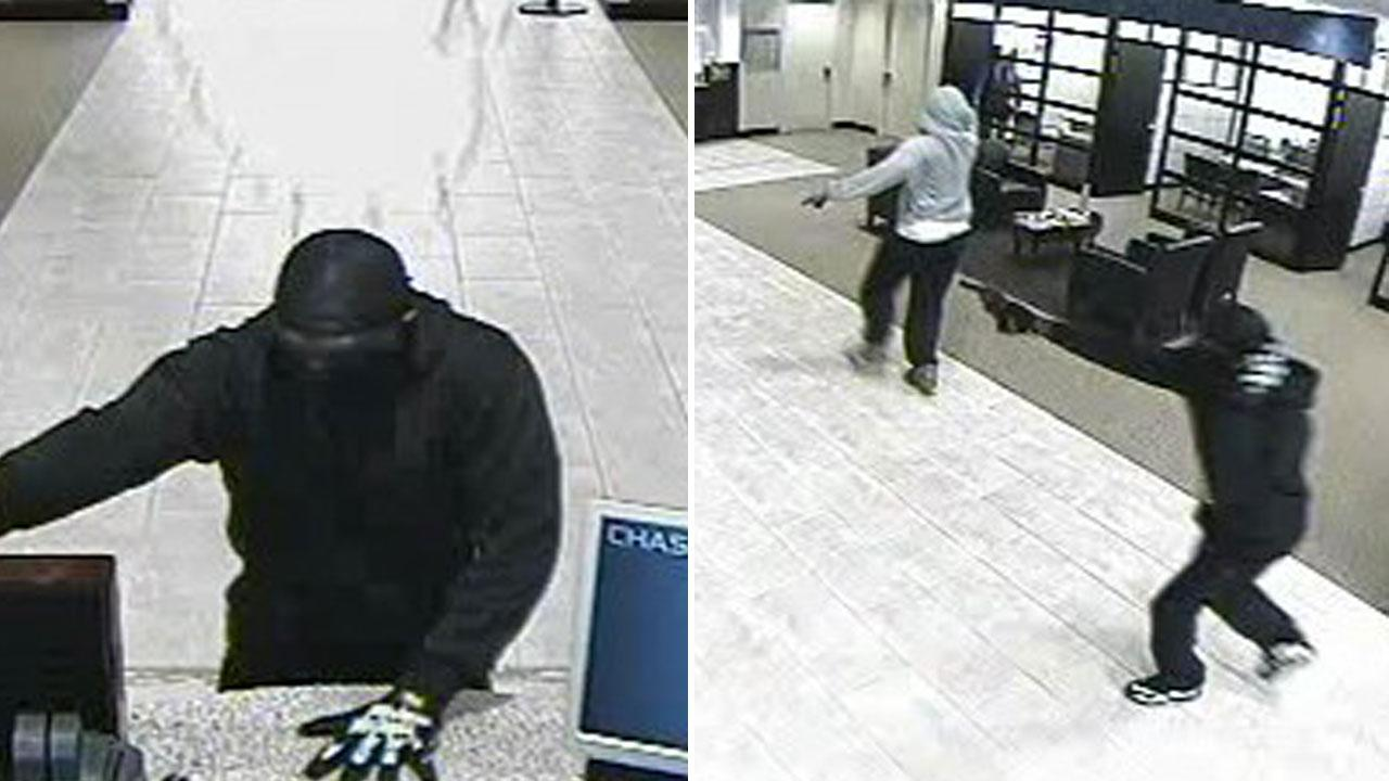 The robbery happened at the Chase Bank at the intersection of the Grand Parkway and Westheimer Parkway Thursday afternoon