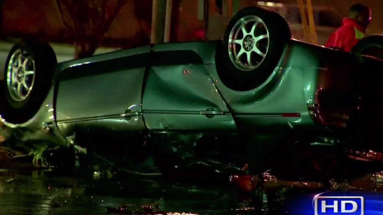 Driver critically injured
