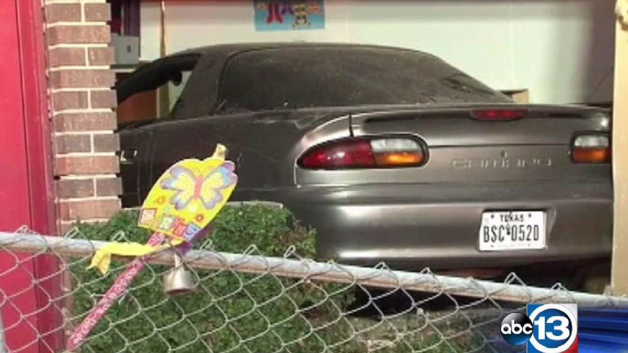 Driver slams into daycare