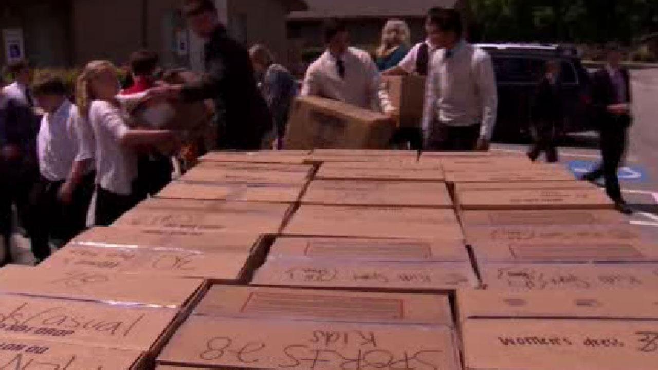 Haiti shoe donations
