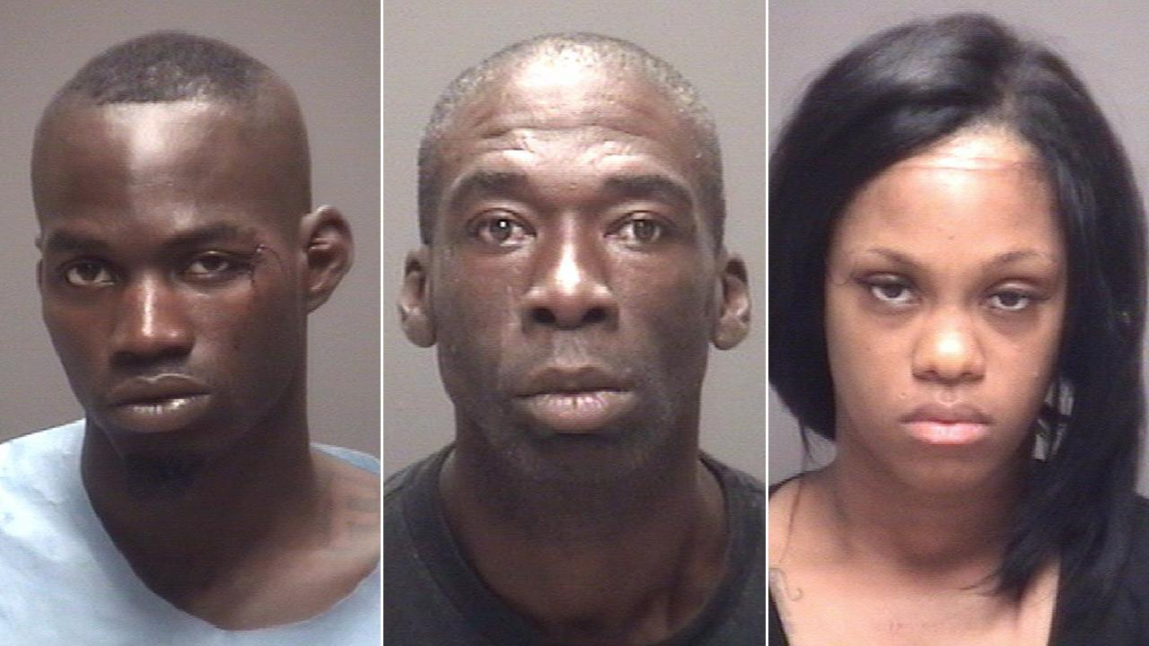 Reginald Van Horton (left),  Tommy Merchant (center) and  Robin Wiley (right) were all arrested on drug charges