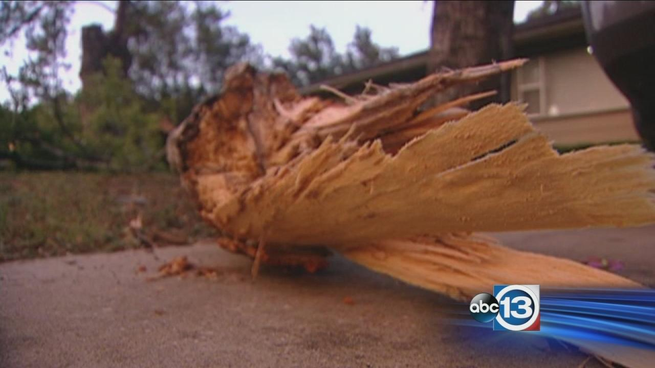 Some residents cleaning up after Labor Day storms