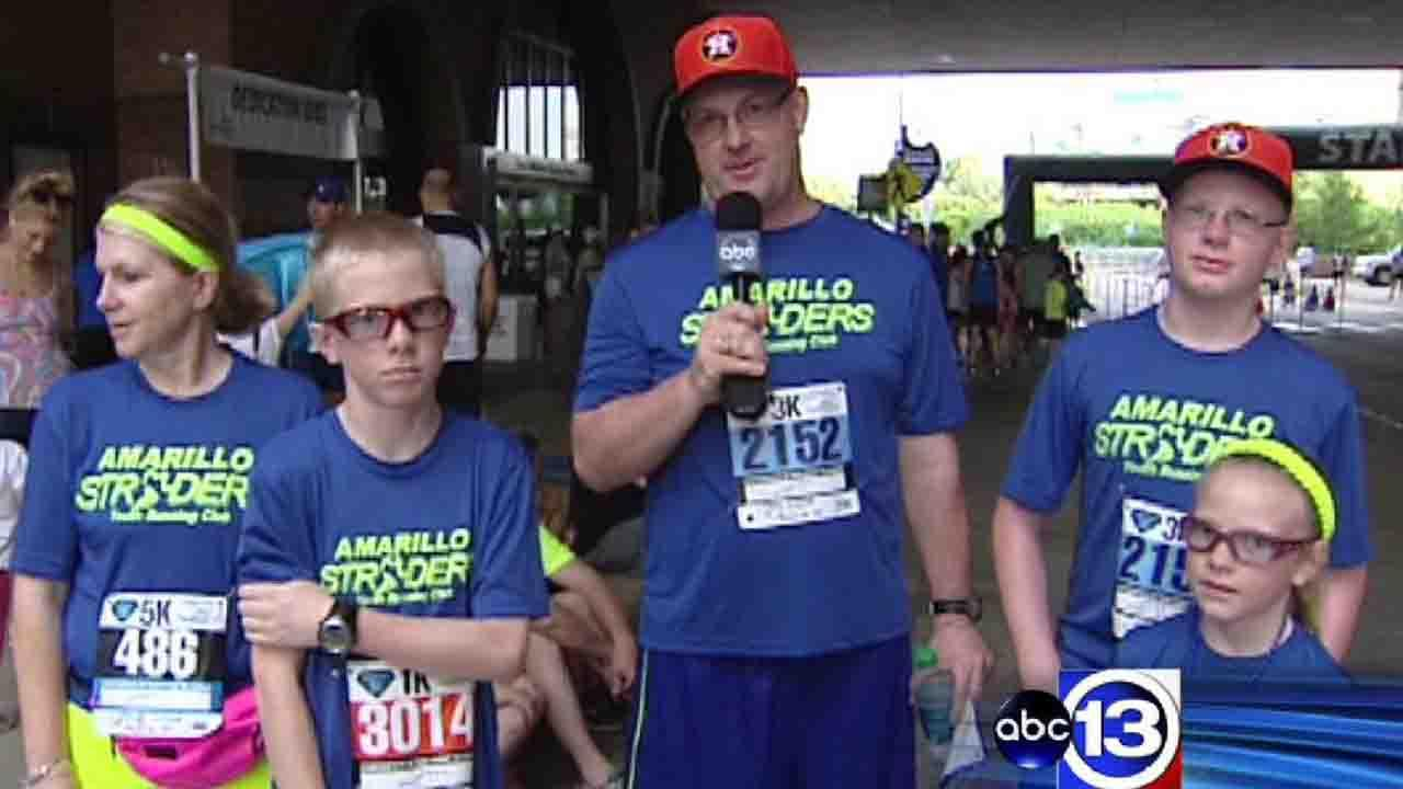 Amarillo man travels with family to Houston for 5K