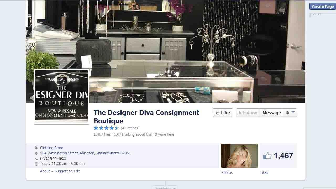 The Designer Diva Consignment Boutiques Facebook page.