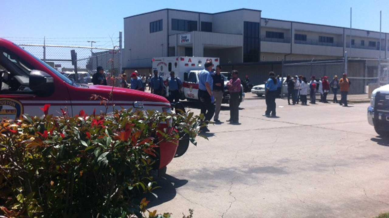 An ammonia leak forced dozens of workers to evacuate this building in west Houston.