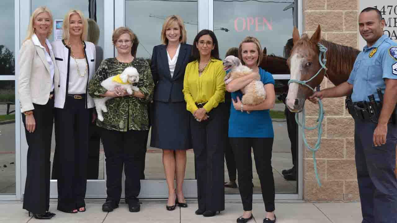Representatives of Crime Stoppers of Houston, Houston PetSet, Houston Humane Society, HCSO and the DAs office joined forces to speak out against animal cruelty