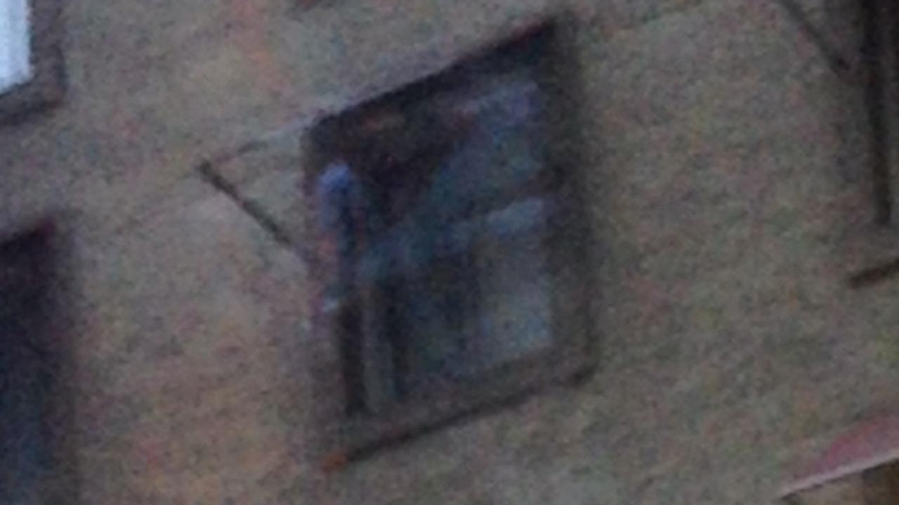 Koston Alderete, a Riverside boy with a love of scary films and ghost stories, took this picture, which shows a ghostly figure outside a fourth floor window at the Hotel Cecil in downtown Los Angeles.