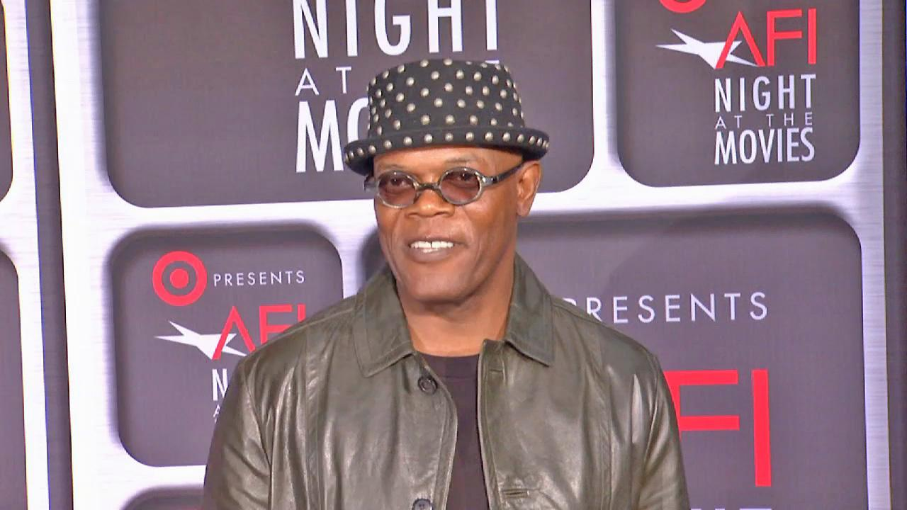 Actor Samuel L. Jackson is seen at the AFI Night at the Movies on Wednesday, April 24, 2013.
