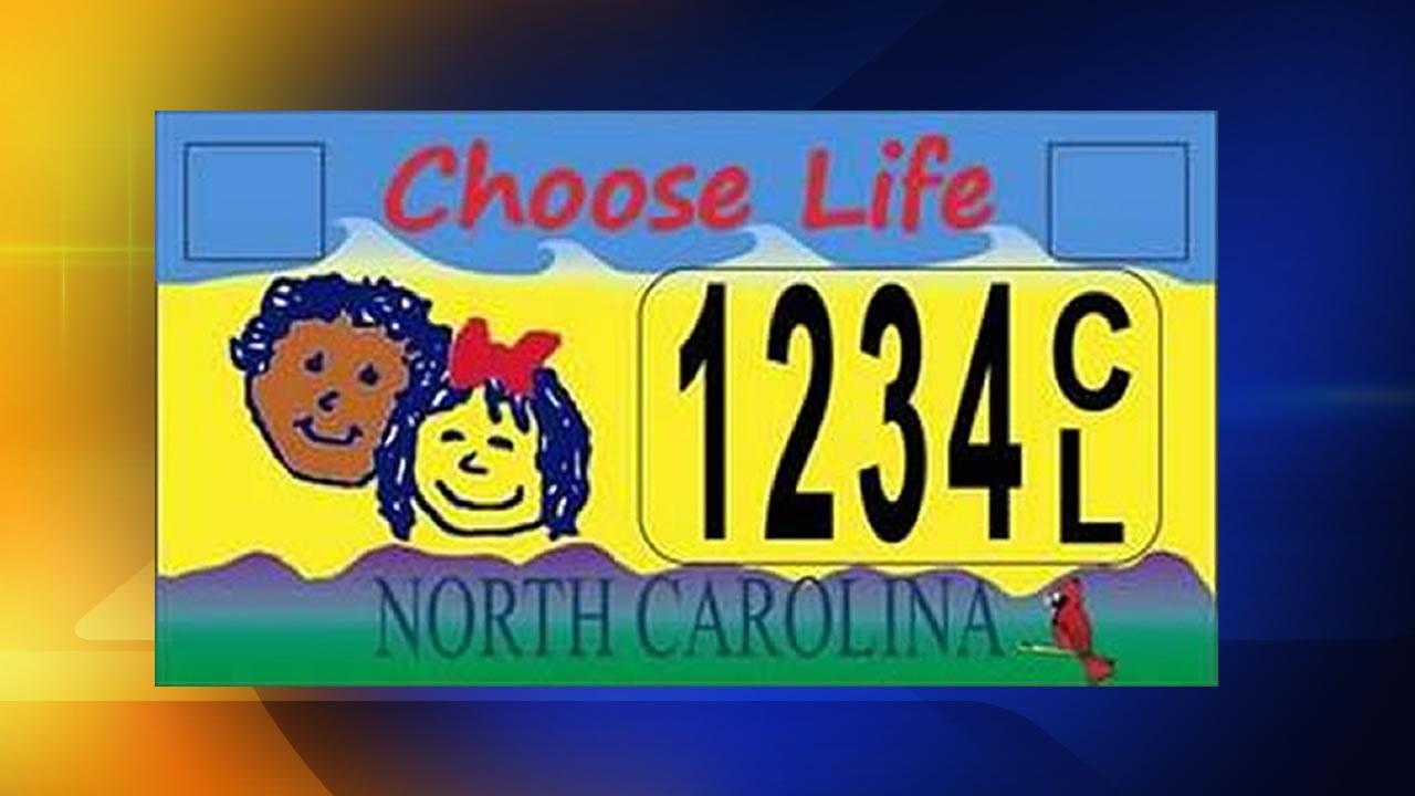 NC Choose Life license plate