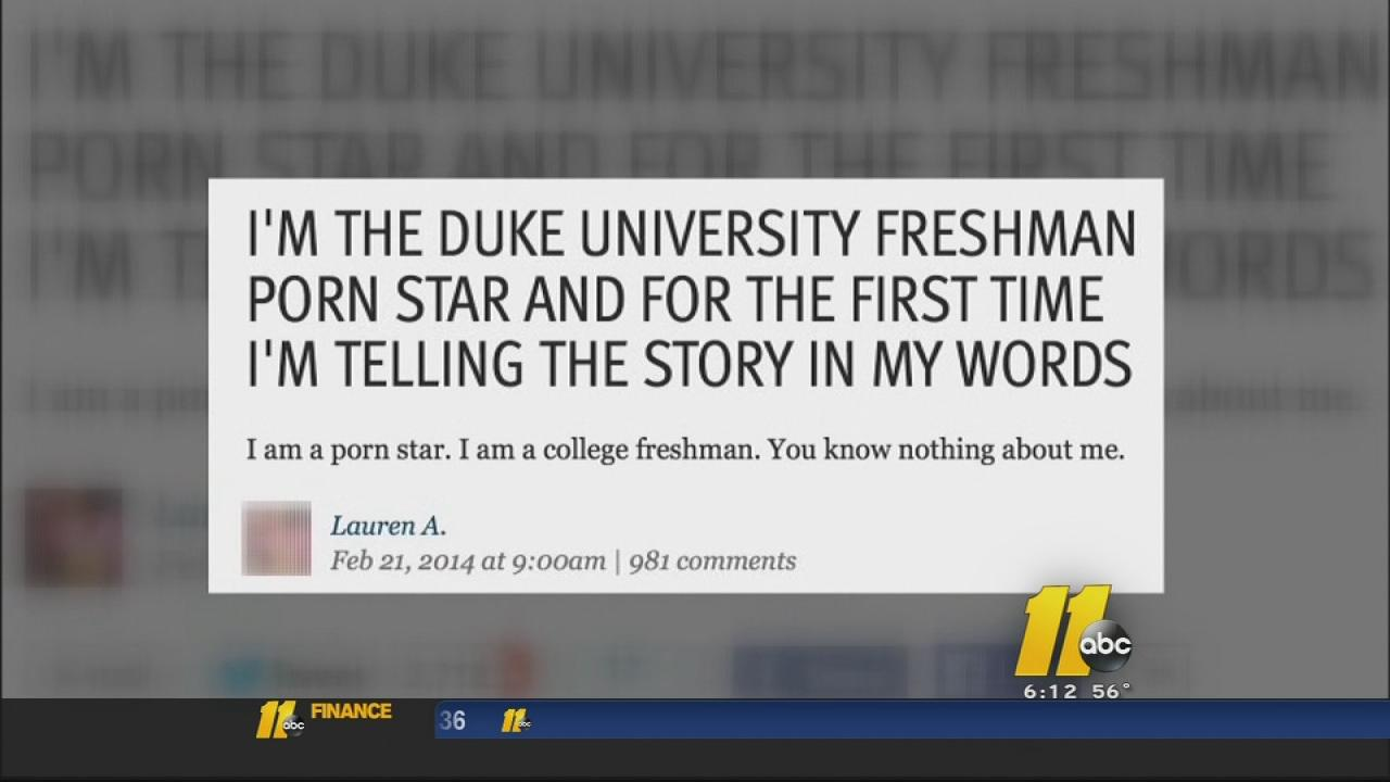 Duke student pays tuition as a porn star