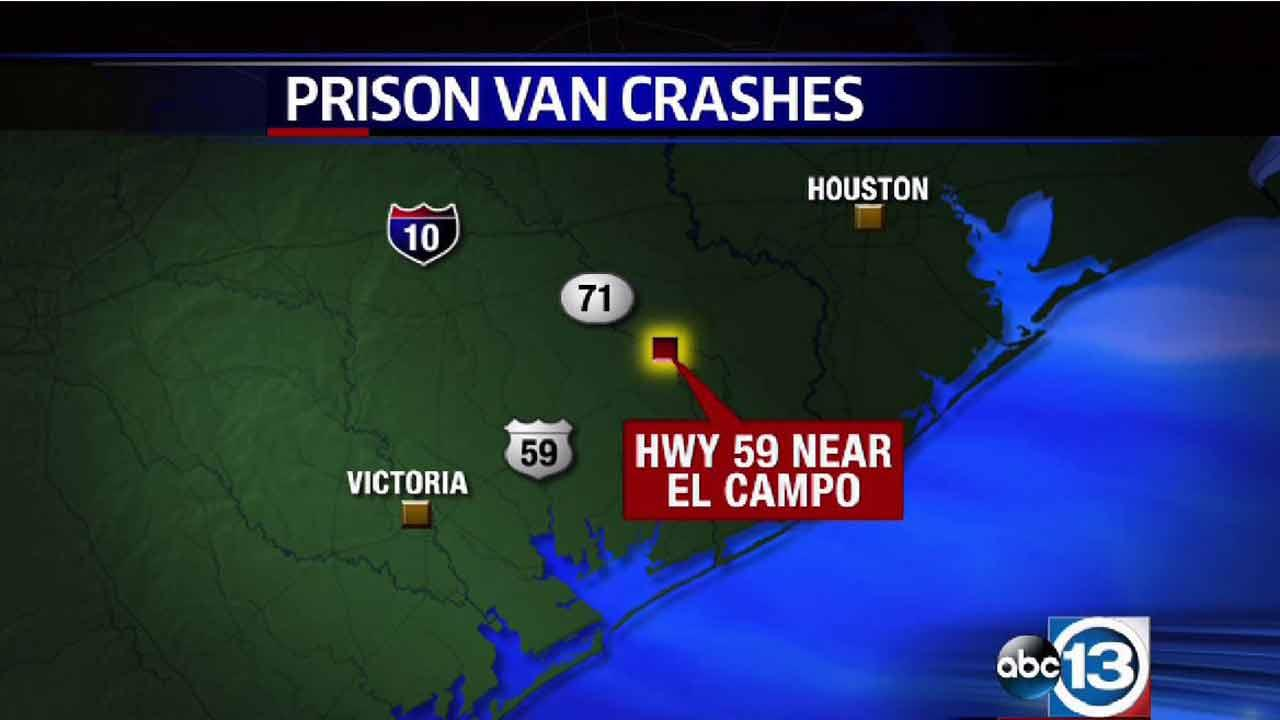 TDCJ van carrying prisoners crashes near El Campo