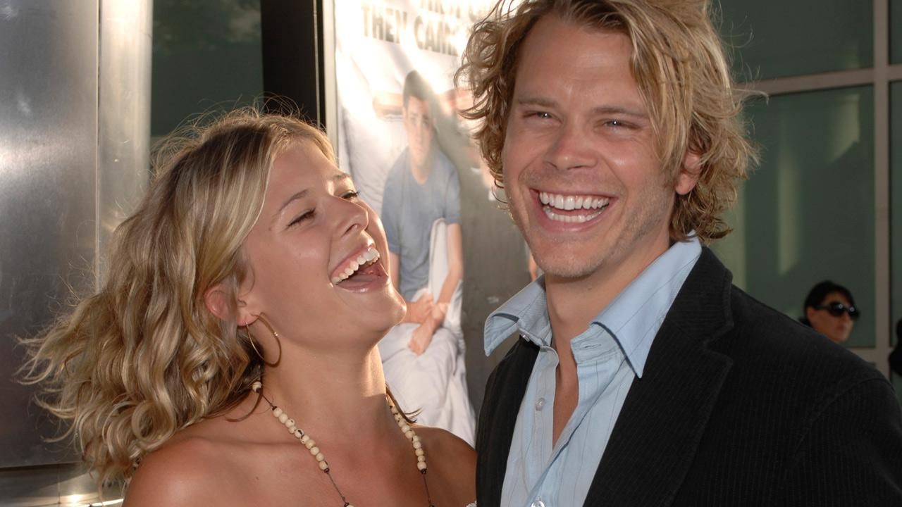 Cast member Eric Christian Olsen, right, and Sarah Wright, left, attend the premiere of License to Wed Monday, June 25, 2007, in the Hollywood section of Los Angeles.Phil McCarten)
