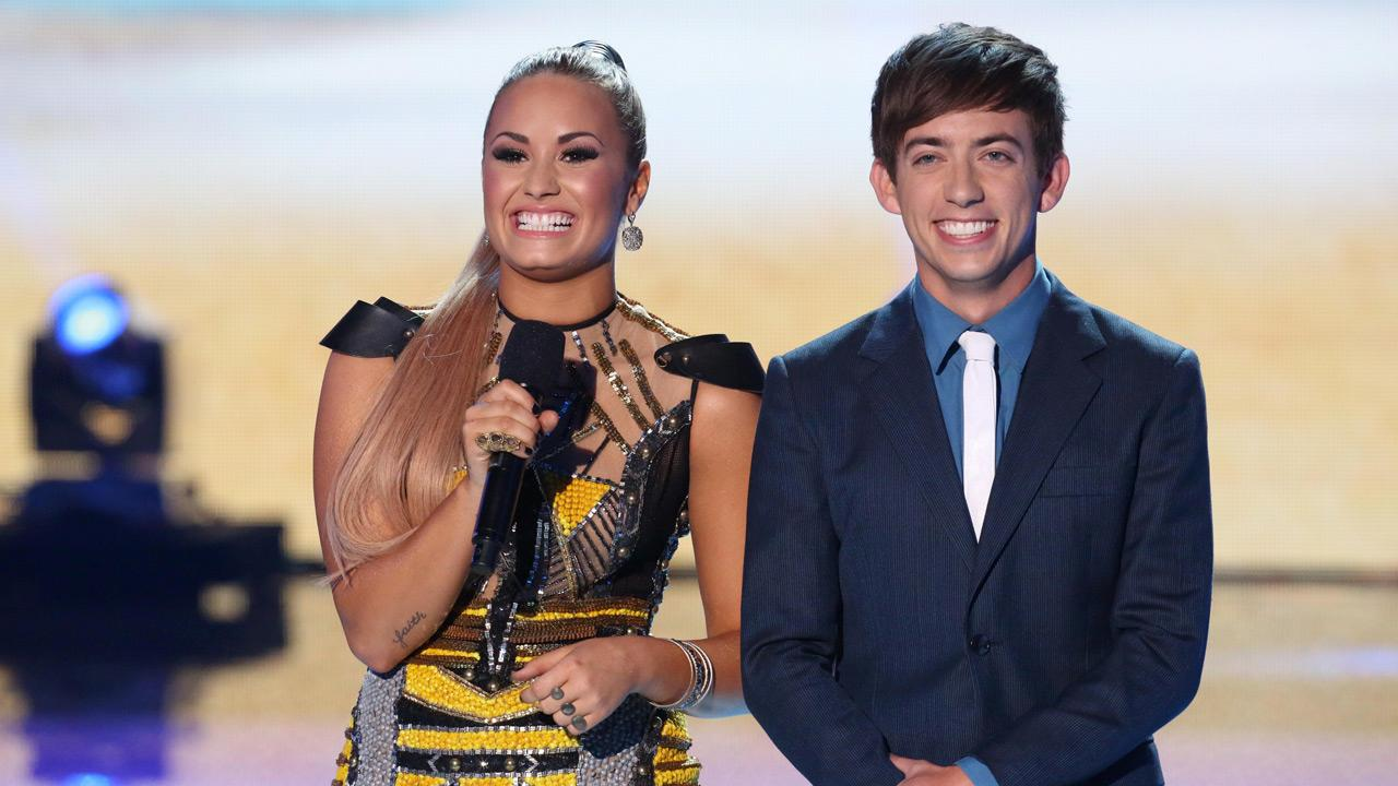 Co-hosts Demi Lovato and Kevin McHale during the TEEN CHOICE 2012, airing LIVE Sunday, July 22, 2012.