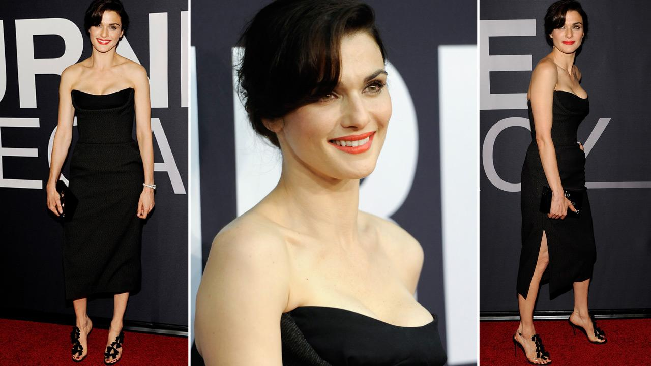 Actress Rachel Weisz attends the world premiere of The Bourne Legacy at the Ziegfeld Theatre on Monday July 30, 2012 in New York.