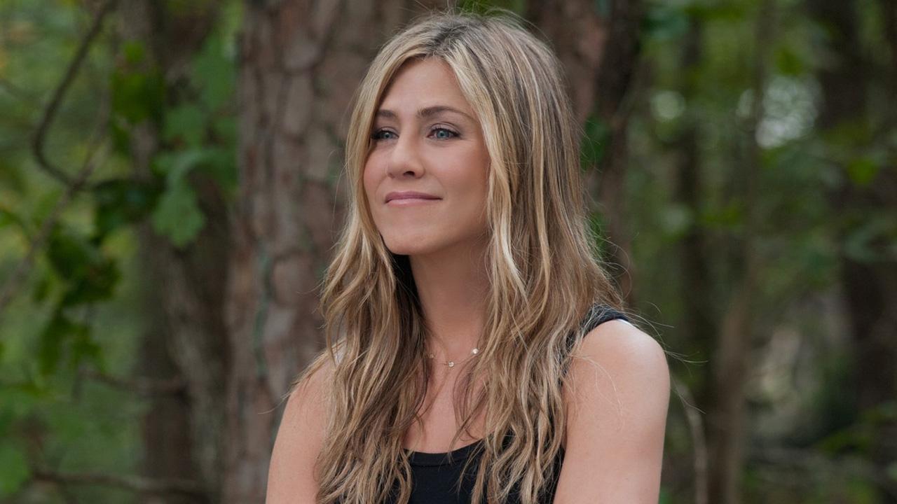 Jennifer Aniston appears in a scene for the 2012 film Wanderlust.