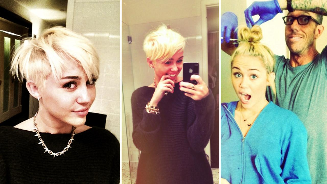 Miley Cyrus39 Hair Goes 39bye Bye39 Actress Debuts Pixie