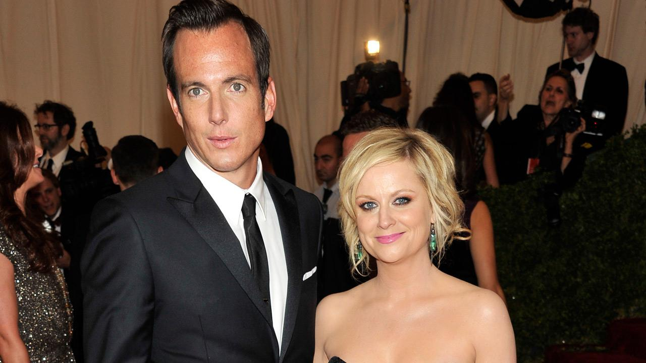 This May 7, 2012 file photo shows actors Will Arnett and Amy Poehler arriving at the Metropolitan Museum of Art Costume Institute gala benefit in New York.Charles Sykes, file