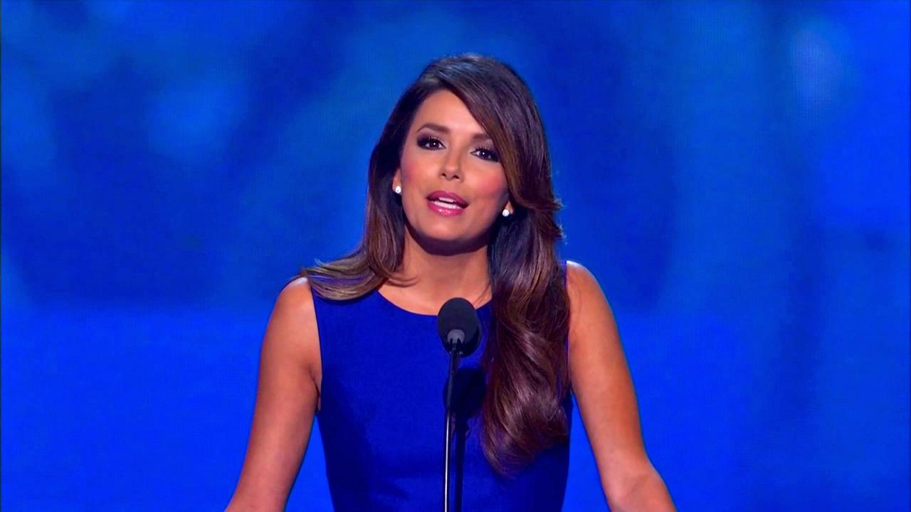 Eva Longoria gives a speech at the Democratic National Convention in North Carolina on Sept. 6, 2012.DNC