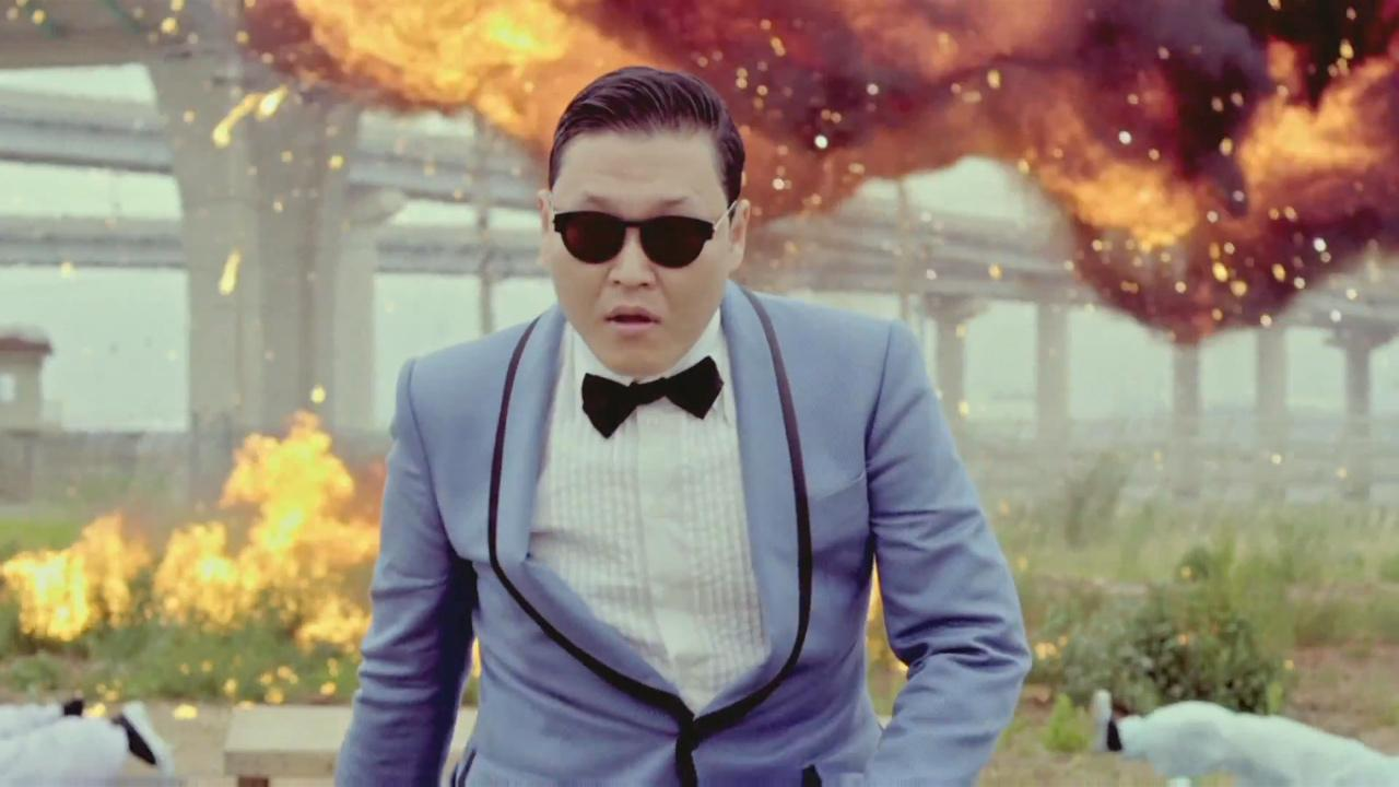 Psy appears in a still from his music video for Gangnam Style, which was uploaded to YouTube on July 15, 2012.
