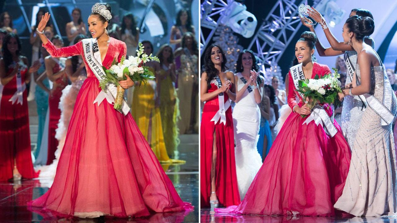 Miss USA 2012 Olivia Culpo appears on stage at the Planet Hollywood Hotel and Casino after winning the title of Miss Universe 2012 on Dec. 19, 2012.