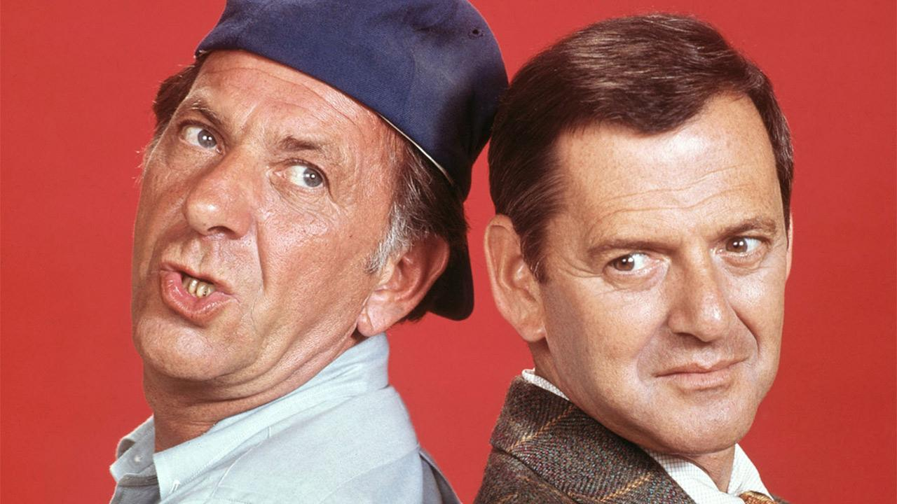 Jack Klugman (left) appears as Oscar Madison and Tony Randall as Felix Unger in this publicity photo for the 1970s show The Odd Couple.Paramount Television