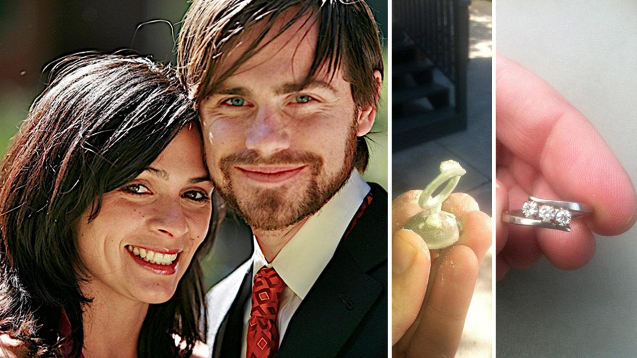 Rider Strong and Alexandra Barreto appear in a photo the actors rep provided on Dec. 27, 2012, the day he announced the two are engaged. / The engagement ring Rider Strong designed for his fiancee.Rider Strong