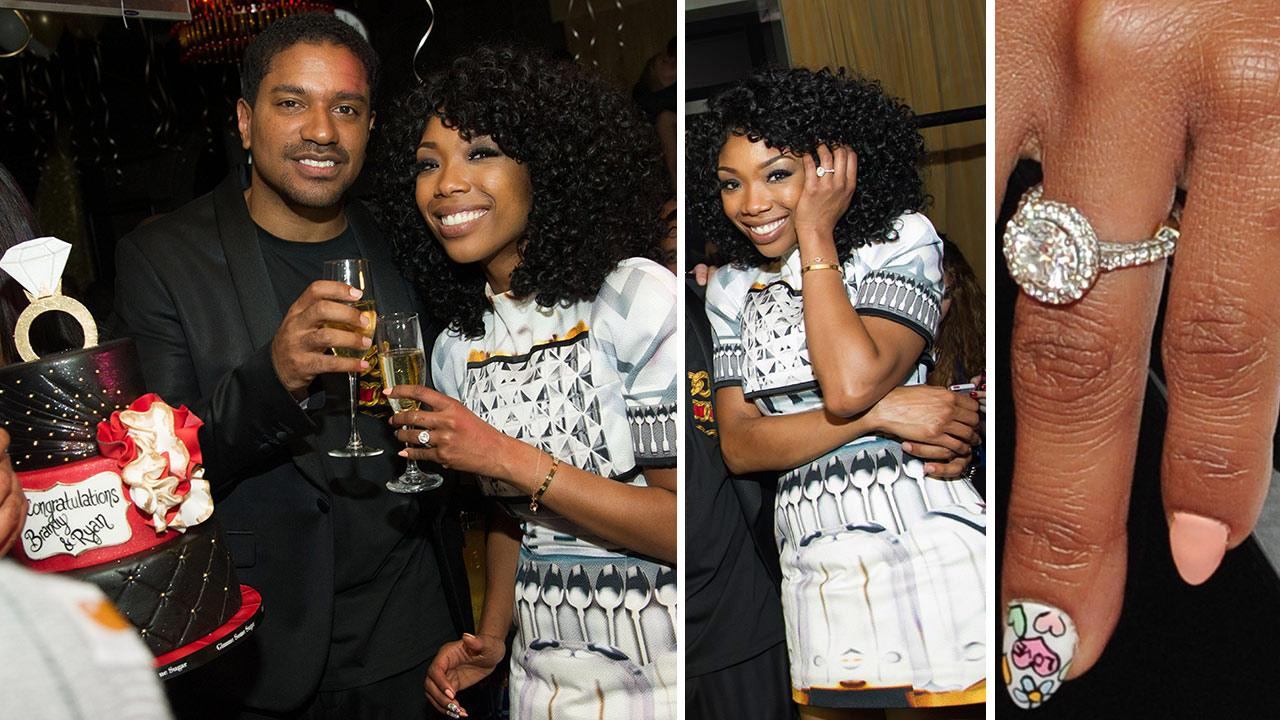 Otrc Brandy Flashes Engagement Ring At New Year S Eve Party Kisses Fiance Ryan Press Photos
