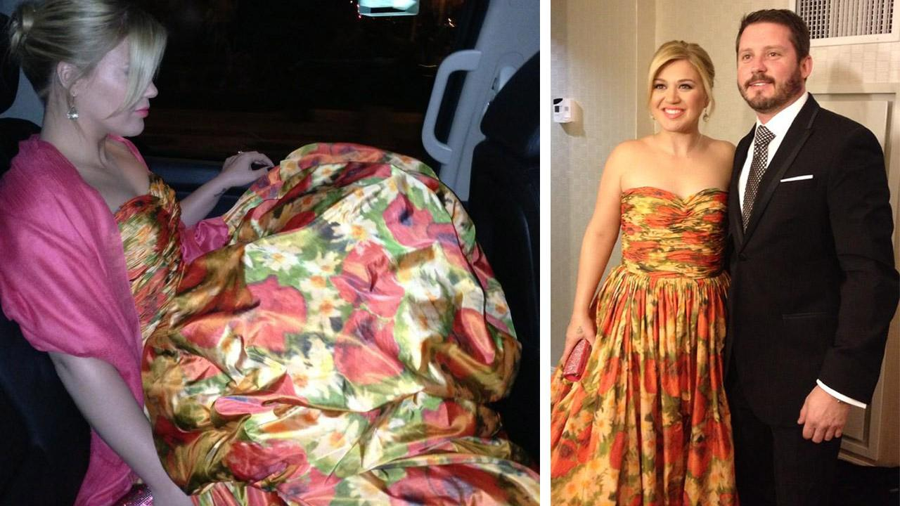 Kelly Clarkson wears floral gown to Inaugural Ball (Photos ...