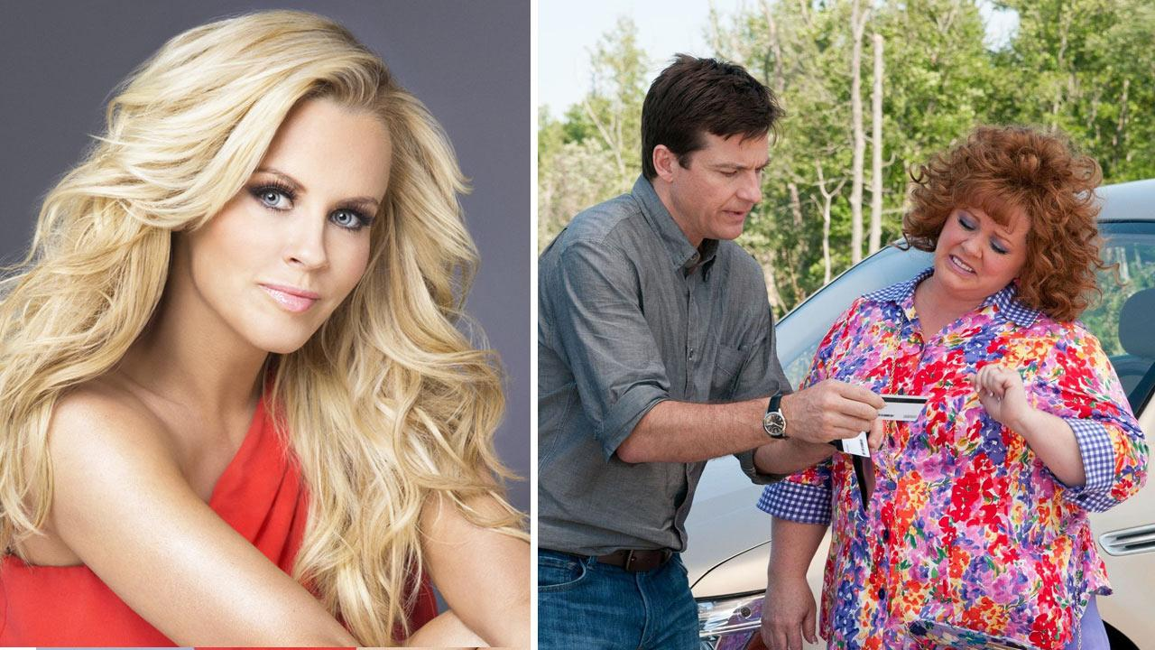 Jenny McCarthy appears in an undated promotional photo for her 2013 talk show The Jenny McCarthy Show. / Melissa McCarthy and Jason Bateman appear in a promotional photo for the 2013 film Identity Thief.