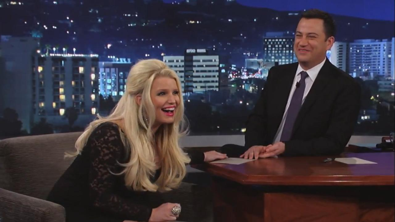 Jessica Simpson appears on the March 6 episode of Jimmy Kimmel Live!
