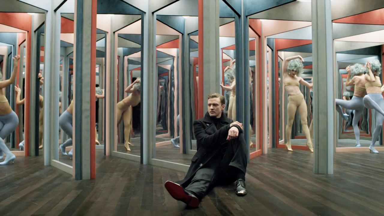 Justin Timberlake appears in a scene from her 2013 music video Mirrors.
