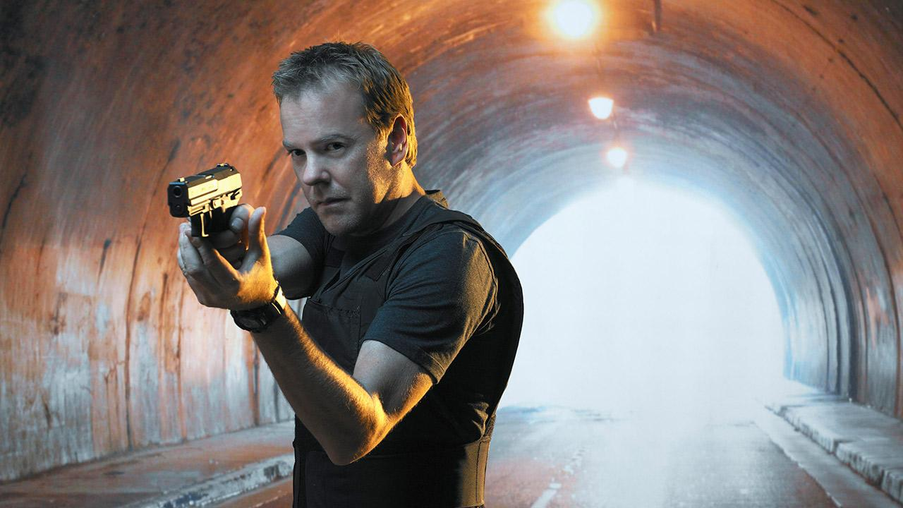 Kiefer Sutherland appears in an undated publicity photo for the FOX series 24.