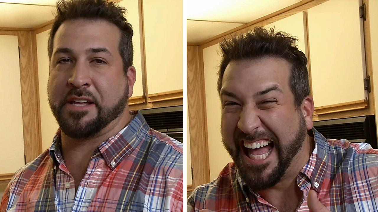 Joey Fatone talks to OTRC.com at an apartment in Los Angeles, where he is filming an episode of his Live Well TV show My Family Recipe Rocks, on Aug. 27, 2013. He discussed the possibility of another N Sync reunion following the 2013 MTV VMAs.