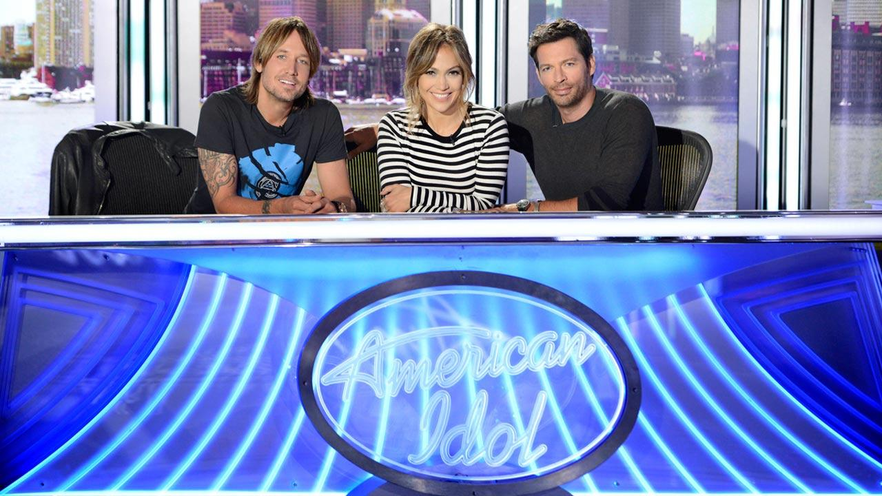 L-R: Keith Urban,Jennifer Lopez and Harry Connick Jr. appear in a September 2013 photo for the season 13 of American Idol.