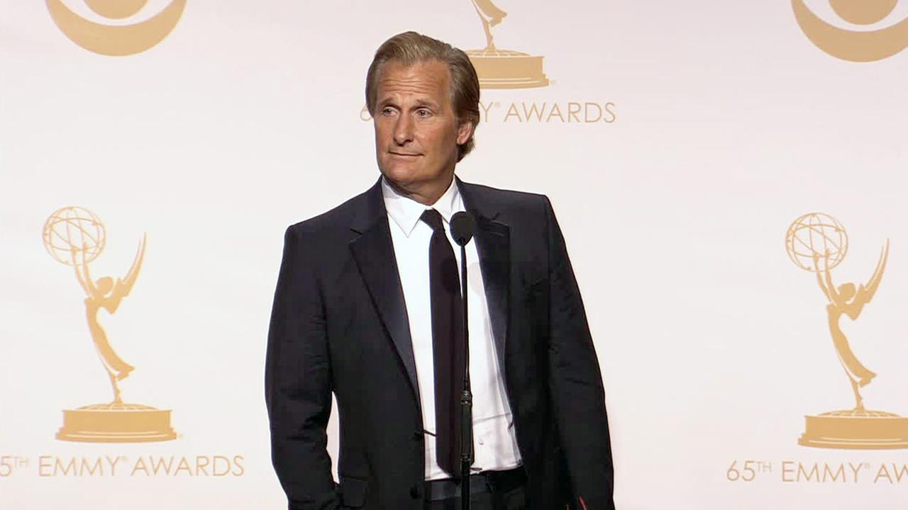 Jeff Daniels appears back stage at the 2013 Emmy Awards on Sept. 22, 2013.