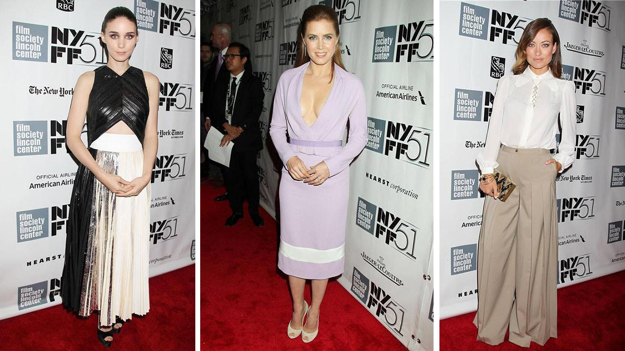 Rooney Mara, Amy Adams and Olivia Wilde attend the closing night gala presentation of Her. A Spike Jonze Love Story at the 2013 New York Film Festival on Oct. 12, 2013.