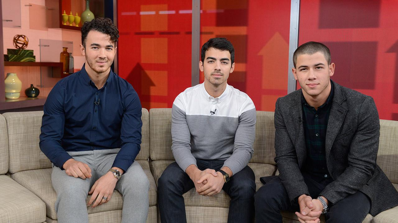 The Jonas Brothers appear on ABCs Good Morning America (GMA) to discuss the groups breakup on Oct. 30, 2013.